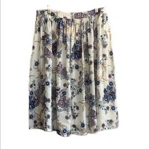 Willow & Clay Silk Floral Skirt size 6